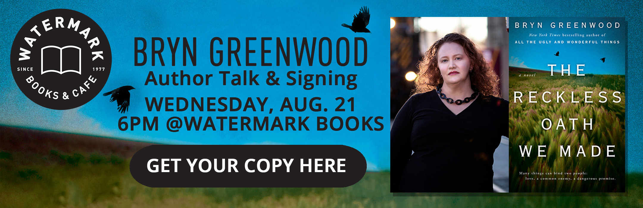 Bryn Greenwood Author Signing at Watermark Books