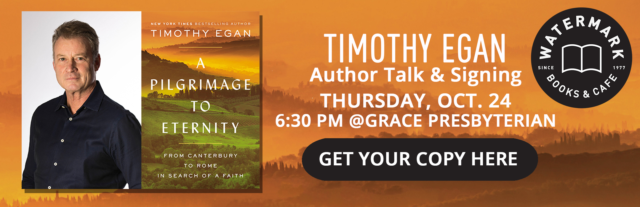 Timothy Egan Author Talk & Signing with Watermark Books